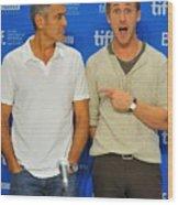 George Clooney, Ryan Gosling Wood Print by Everett