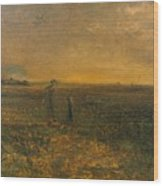 George Fuller   Twilight On The Prairie Wood Print
