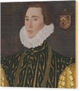 George Gower Portrait Of Thomas Slingsby 1556  1579 1577 Wood Print