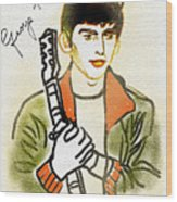 George Harrison - 2 Wood Print