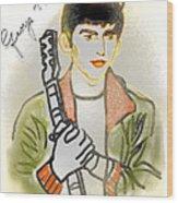 George Harrison - 3 Wood Print