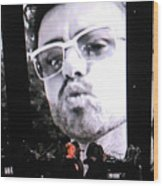 George Michael Sends A Kiss Wood Print