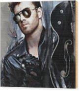 George Michael Singer Wood Print