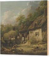 George Morland  The Bell Inn Wood Print