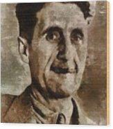 George Orwell Author Wood Print