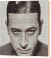 George Raft, Vintage Actor Wood Print