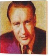 George Sanders, Vintage Hollywood Actor Wood Print