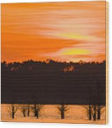 George T. Bagby State Park Sunset Wood Print