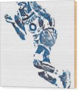 George Teague Minnesota Timberwolves Pixel Art 1 Wood Print