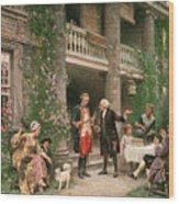 George Washington At Bartrams Garden Wood Print