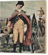 George Washington At Dorchester Heights Wood Print