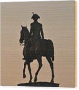 George Washington At Sunrise Wood Print