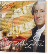 George Washington Father Of Our Country Wood Print