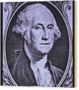 George Washington In Light Purple Wood Print