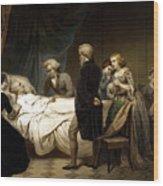 George Washington On His Deathbed Wood Print