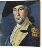 George Washington Wood Print by Samuel King