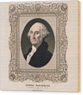 George Washington - Vintage Color Portrait Wood Print