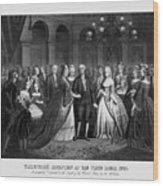 George Washington's Reception At White House - 1776  Wood Print