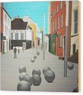 George's Street, Waterford Wood Print