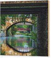 Georgetown Canal Bridges Wood Print