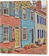 Georgetown Row House Wood Print