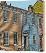 Georgetown Row Wood Print