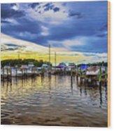 Georgetown Yacht Basin Wood Print