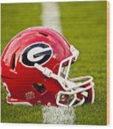 Georgia Bulldogs Football Helmet Wood Print by Replay Photos