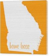 Georgia Is Home Base White Wood Print