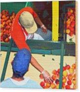 Georgia Peaches Wood Print