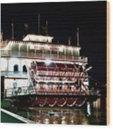 Georgia Queen Riverboat On The Savannah Riverfront Wood Print
