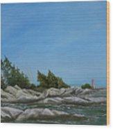 Georgian Bay Wood Print by Rebecca  Fitchett