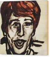 Georgie Fame Portrait Wood Print