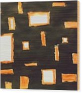 Geosequence In Black And Copper Wood Print