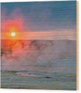 Geothermal Sunrise Wood Print
