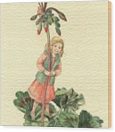Geranium Girl Wood Print