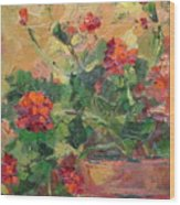 Geraniums II Wood Print