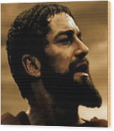 Gerard Butler  In 300 Wood Print