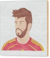 Gerard Pique Wood Print by Toni Jaso