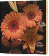 Gerbera Cluster Wood Print
