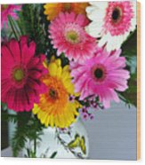 Gerbera Daisy Bouquet Wood Print