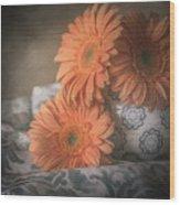 Gerbera Daisy Trio Wood Print