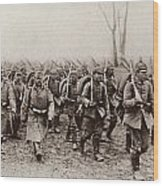 German And Austrian Soldiers Marching Wood Print