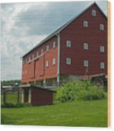 Historic German Bank Barn - Maryland Wood Print