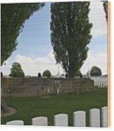 German Bunker At Tyne Cot Cemetery Wood Print