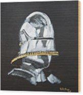 German Helmet Wood Print
