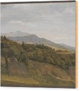 German Landscape With View Towards A Broad Valley , Fritz Petzholdt Wood Print