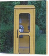 German Phone Booth Wood Print
