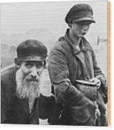 German Photograph Of Two Impoverished Wood Print