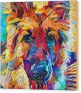 German Shepherd 6 Wood Print